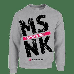 MSNK Sweater (grijs/roze)