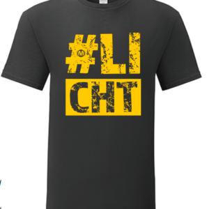 T-shirt #Licht Zwart